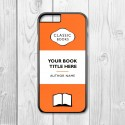Classic Books Personalised Iphone Case (Orange/Black)