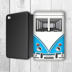 Camper Van Personalised iPad Mini Flip Case (Blue)