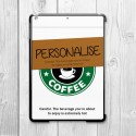 Coffee Cup Personalised iPad Air Clip On Case