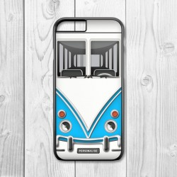 Camper Van Personalised Iphone Case (Blue/Black)