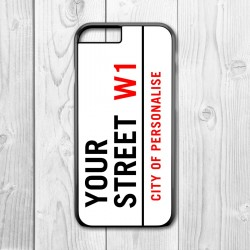 Street Sign Personalised Iphone Case (Black)