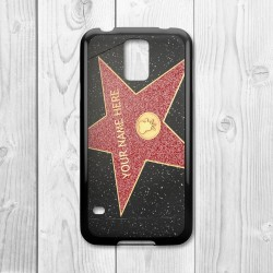Hollywood Star Personalised Samsung Galaxy Case (Black)