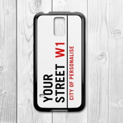 Street Sign Personalised Samsung Galaxy Case (Black)