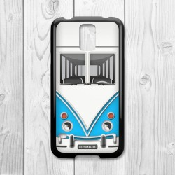 Camper Van Personalised Samsung Galaxy Case (Blue/Black)