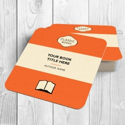 Classic Books Personalised Coaster (Orange)