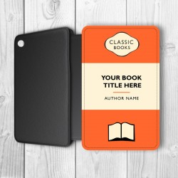 Classic Books Personalised iPad Air Flip Case (Orange/Black)
