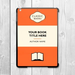 Classic Books Personalised iPad Air Clip On Case (Orange/Black)