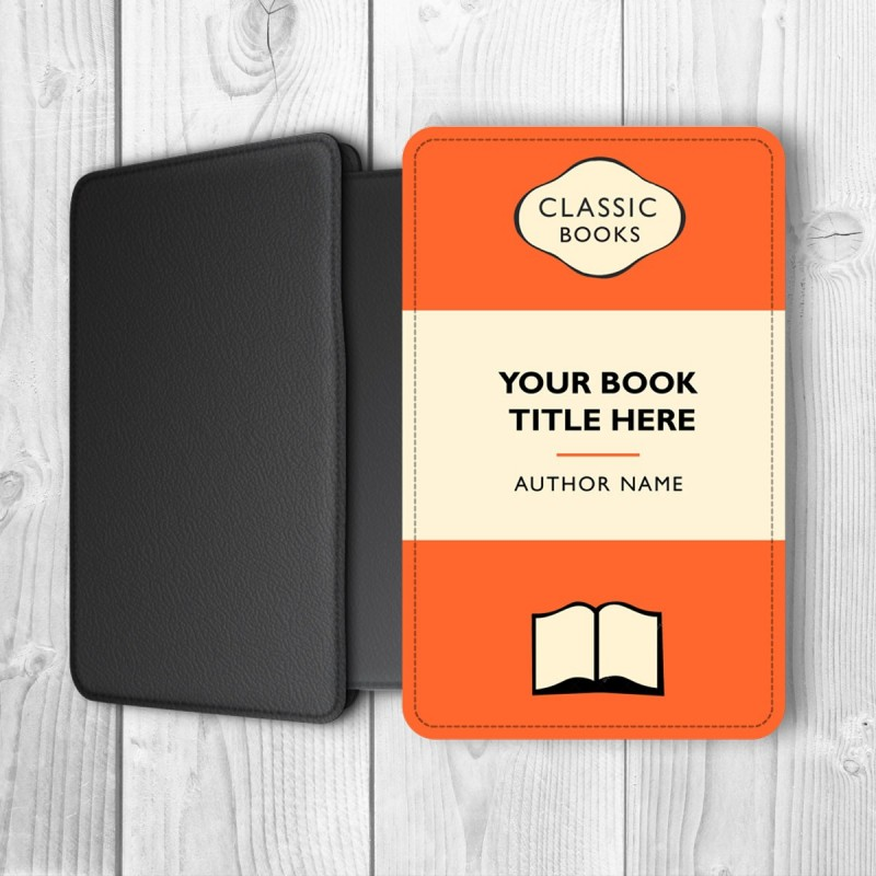Classic Book Cover For Kindle : Classic books personalised kindle case orange black