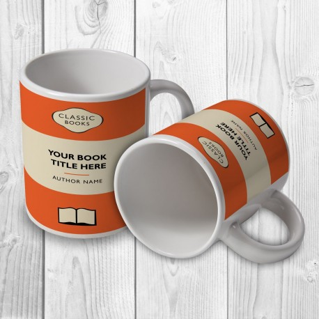 Classic Books Personalised Mug (Orange)
