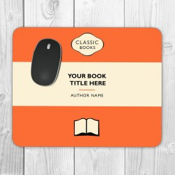 Classic Books Personalised Mouse Mat (Orange)