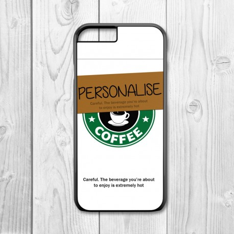 Coffee Cup Personalised Iphone Case (Black)
