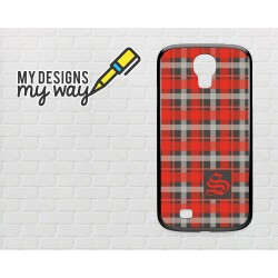 Personalised Monogram Scottish Tartan Pattern Samsung Galaxy Case (Black)