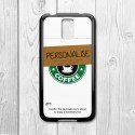 Coffee Cup Personalised Samsung Galaxy Case (Black)
