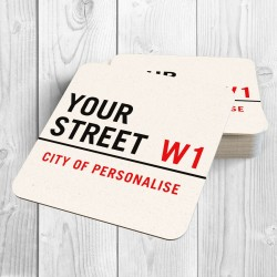 Street Sign Personalised Coaster