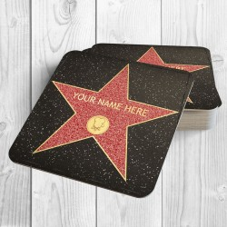 Hollywood Star Personalised Coaster