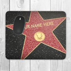 Hollywood Star Personalised Mouse Mat