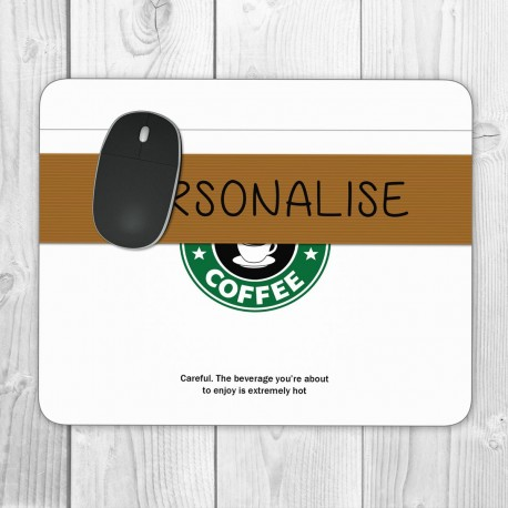 Coffee Cup Personalised Mouse Mat