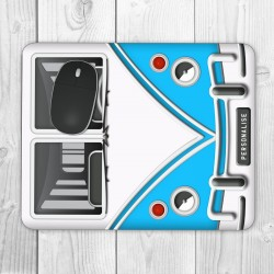 Camper Can Personalised Mouse Mat (Blue)