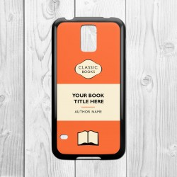 Classic Books Personalised Samsung Galaxy Case (Orange/Black)
