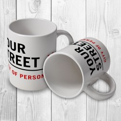 Street Sign Personalised Mug