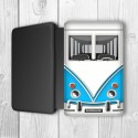 Camper Van Personalised Passport Holder (Blue)