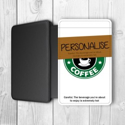 Coffee Cup Personalised Passport Holder